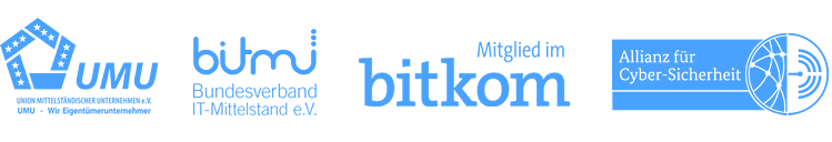 Unsere Partner: UMU, bitmi, bitkom, Allianz für Cyber-Sicherheit